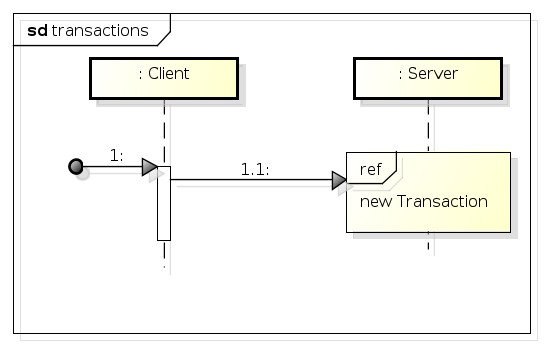transactions: caller with separate Tx